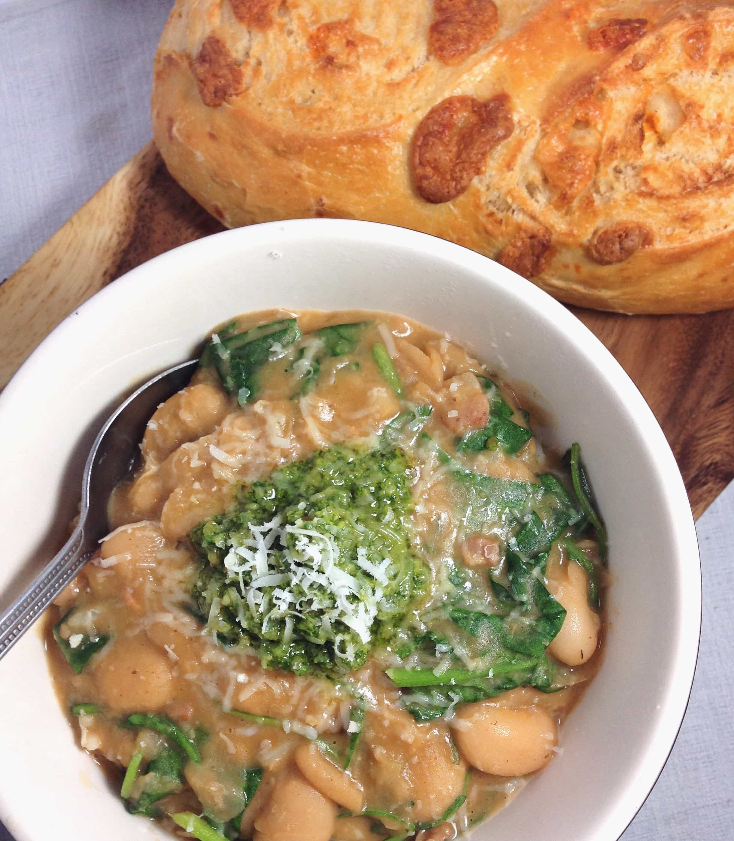 White Bean Stew With Pesto
