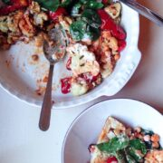 Cauliflower, Roasted Pepper and Chick Pea Salad