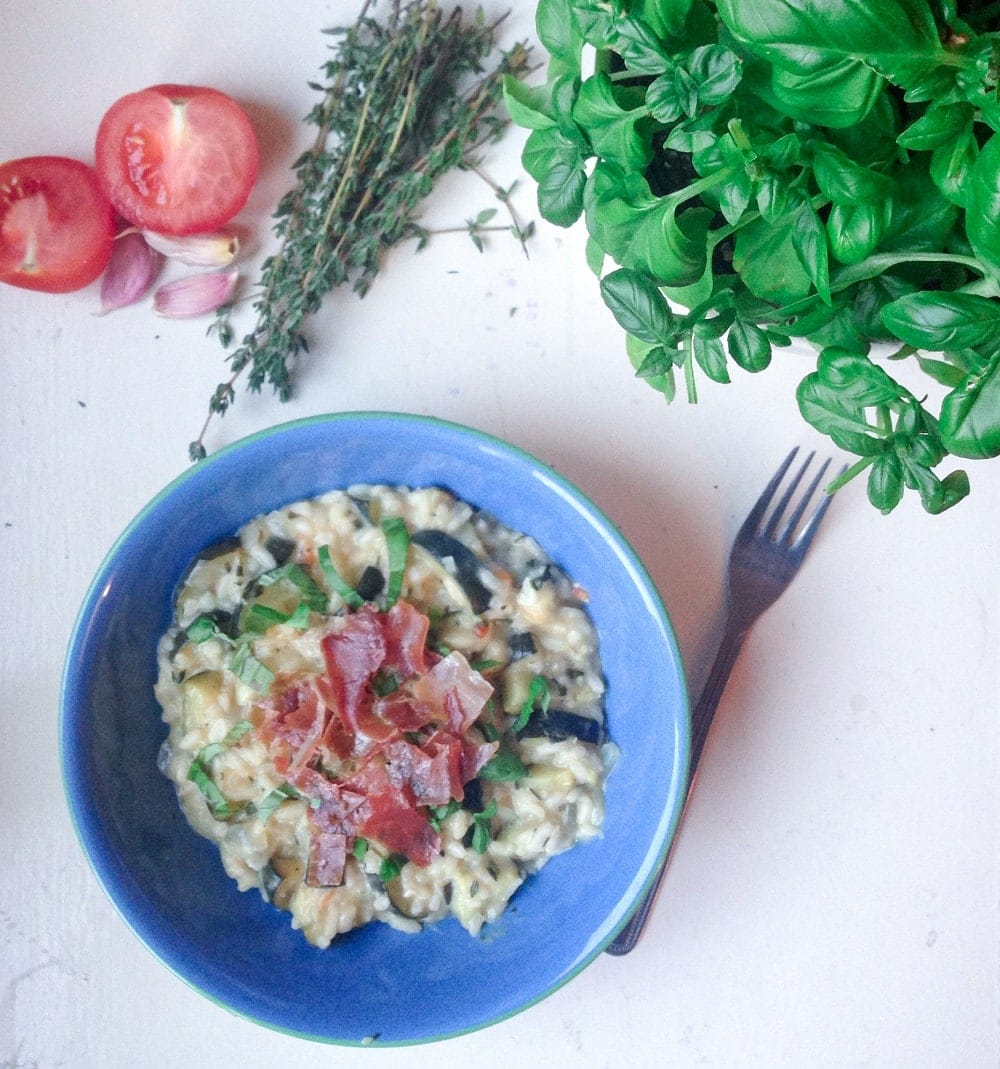 Courgette Goats Cheese Risotto