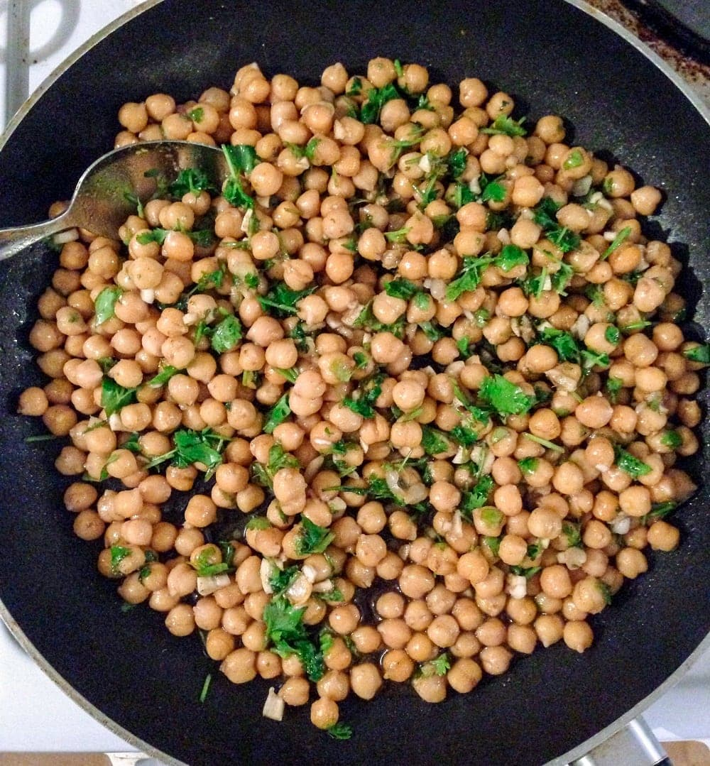 garlic butter and coconut chickpeas