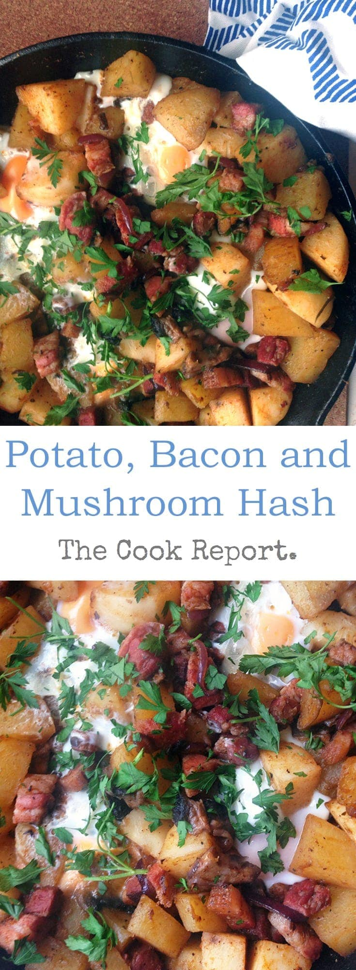 This potato, bacon and mushroom hash is a quick meal which works for breakfast, brunch, lunch and even dinner! The addition of paprika adds a great smoky flavour.