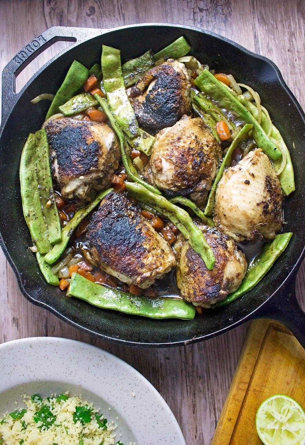 This berbere chicken recipe is bursting with flavour. It's quick and easy to put together and tastes amazing served over lime & parsley cous cous!