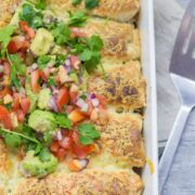 These chilli beef enchiladas are super easy to make and make the perfect weeknight dinner when you're craving Mexican food!