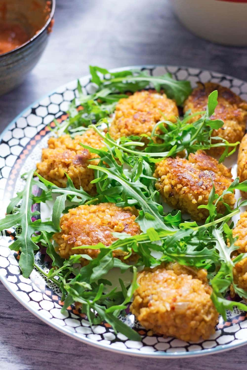 Turkish Lentil and Bulgur Wheat Patties with Salad • The Cook Report