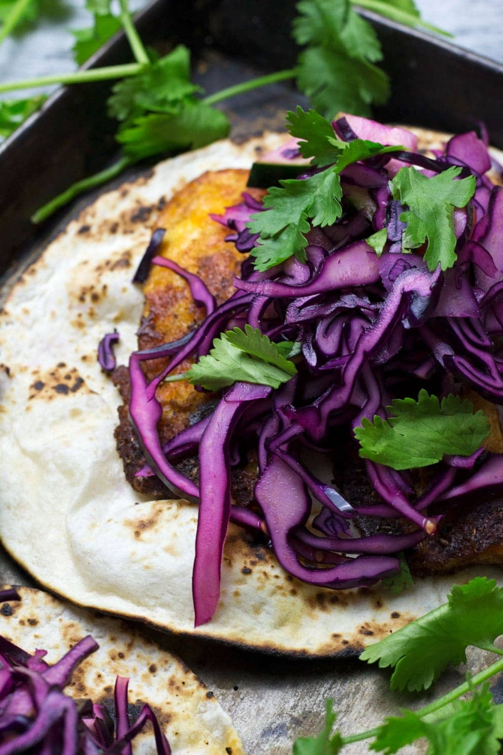Halloumi Tacos With Red Cabbage Slaw The Cook Report