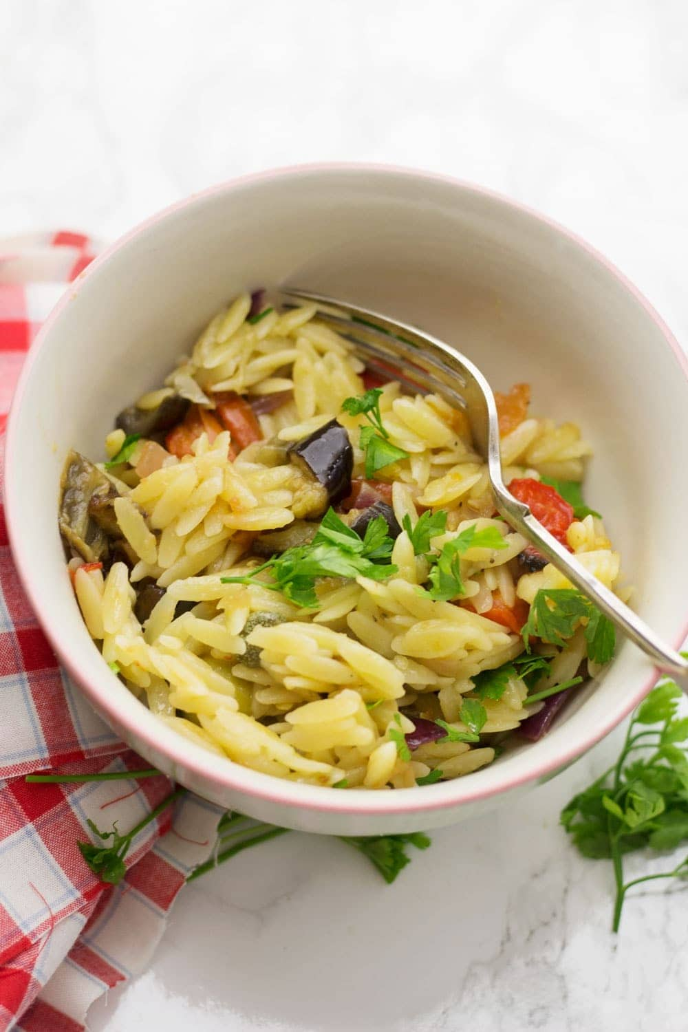 Summer Orzo Salad with Roasted Vegetables • The Cook Report