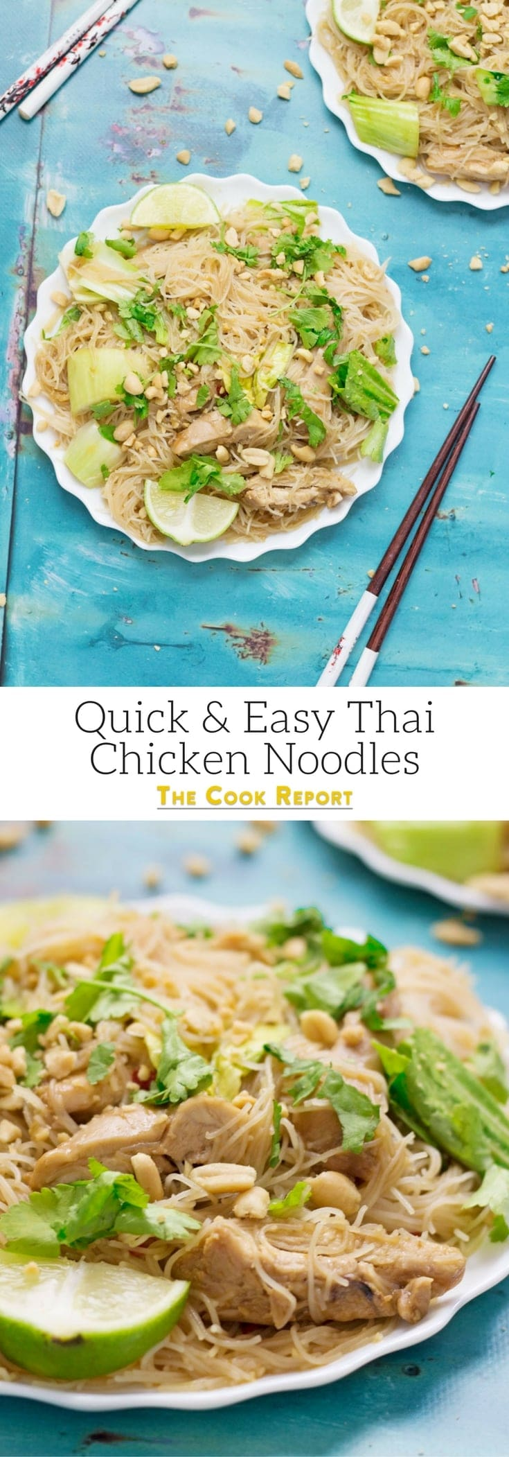 These quick Thai chicken noodles are a great weeknight dinner. They also make brilliant leftovers so make sure you make enough for lunch the next day!
