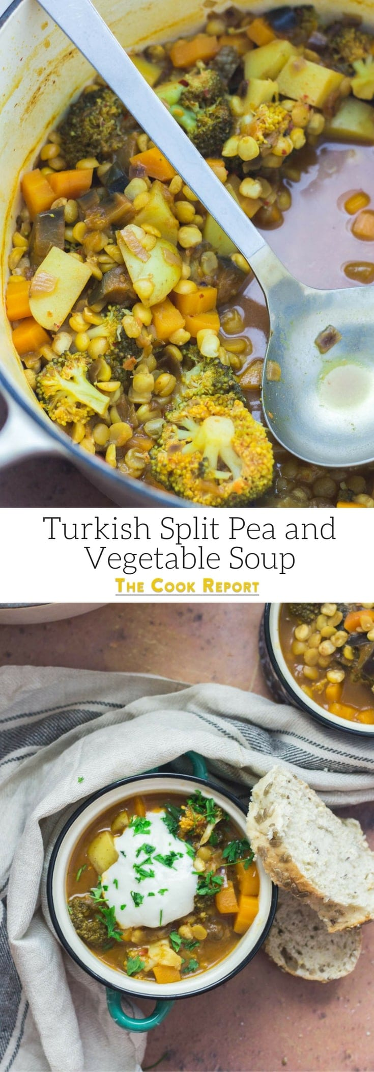This Turkish split pea and vegetable soup is so warming and filled with healthy ingredients to make a tasty autumn meal perfect for the cooler weather.