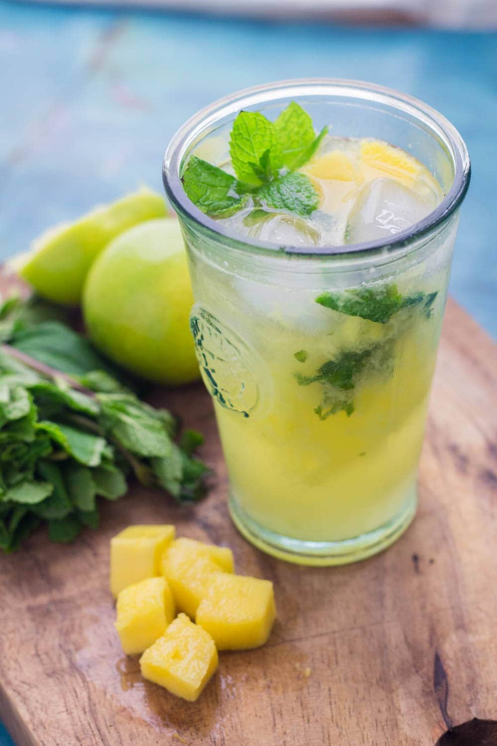 Serve these mango mojitos and Cuban fish tacos at your next party! The mojito uses a classic recipe with a delicious tropical twist.