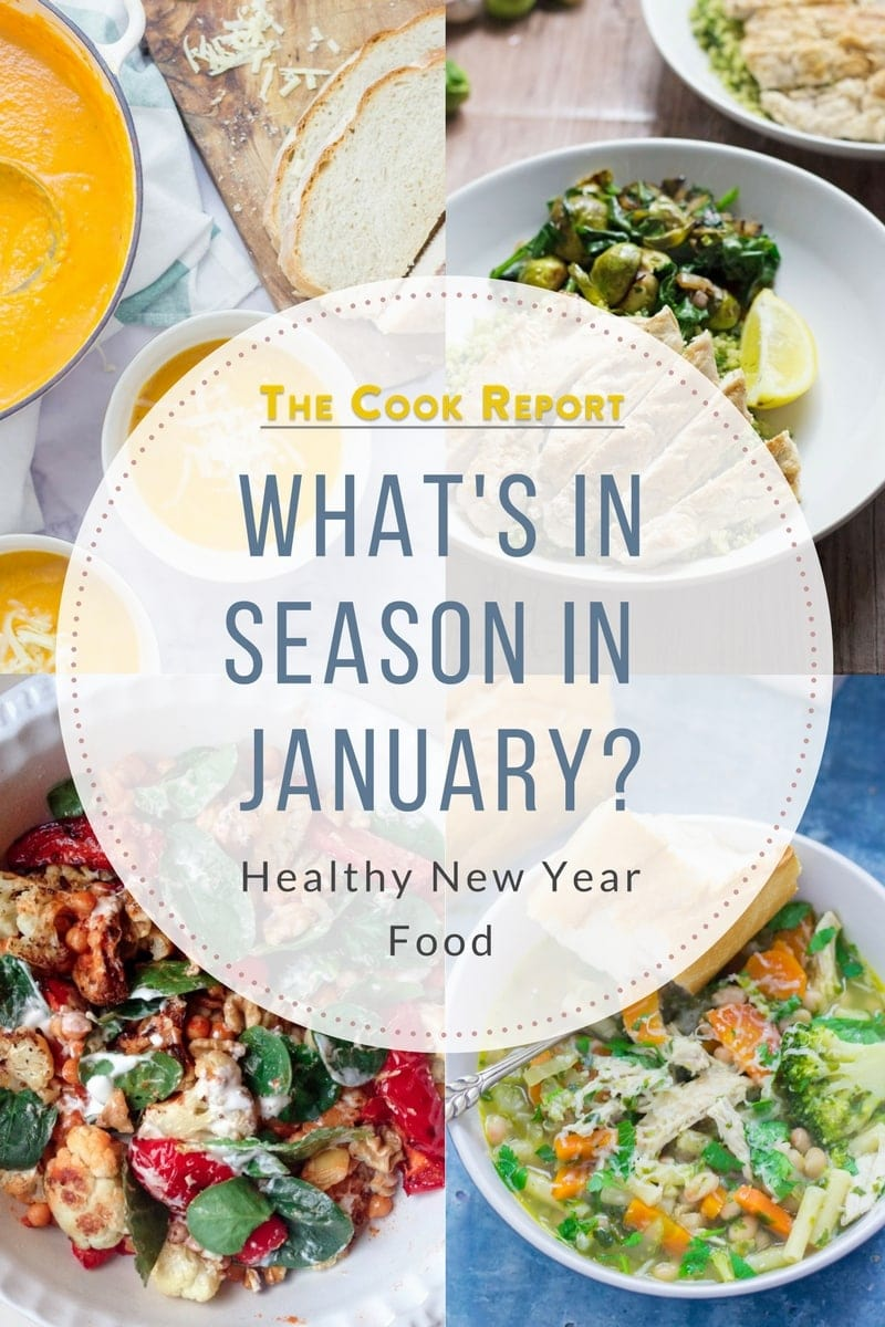 What's in season in January? A selection of quick, weeknight recipes to help you stay healthy and stick to your new year goals. #seasonal #recipes #january