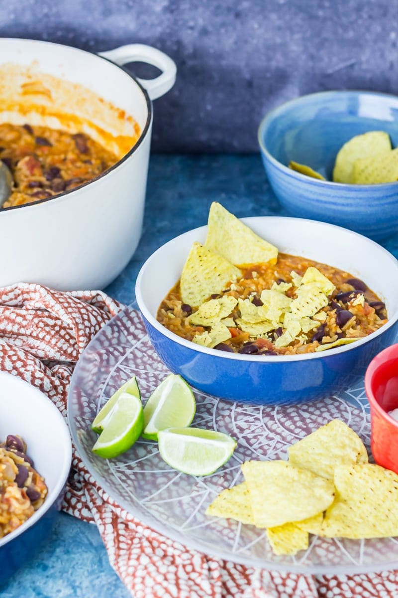 Cheesy Mexican Rice and Vegetable Tortilla Stew • The Cook Report