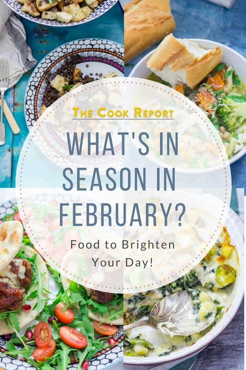 What's in season in February? A selection of recipes to brighten up the cold days of February! There's nothing better than eating seasonally to help you through the winter. #seasonal #recipes #february