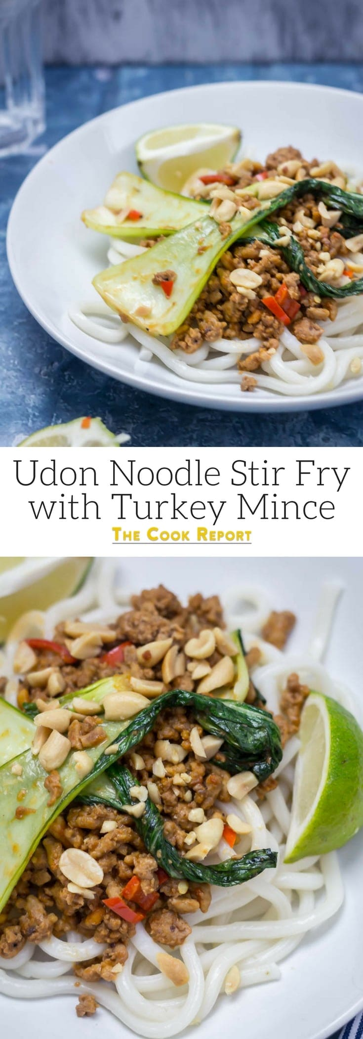 Lighten things up by switching your usual chicken or pork for turkey mince in this simple and tasty udon noodle stir fry. Perfect for a healthy midweek dinner, this recipe is ready in 20 minutes! #turkeyrecipe #udonnoodles #stirfry #thecookreport