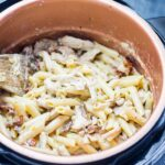 Creamy chicken pasta in a pressure cooker
