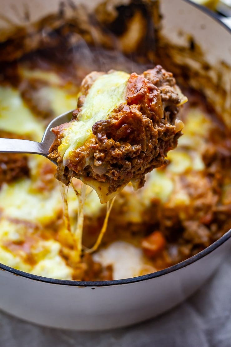 Spoonful of one pot lasagne