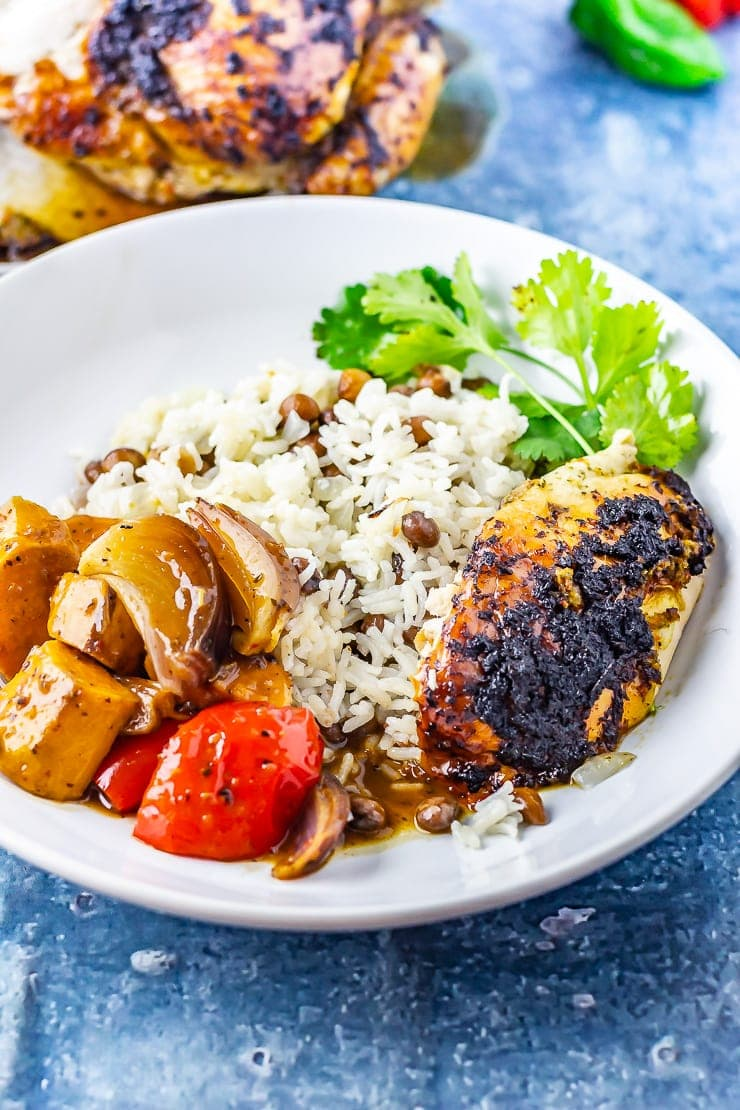 Jerk Roasted Chicken With Coconut Curry Amp Rice The Cook Report