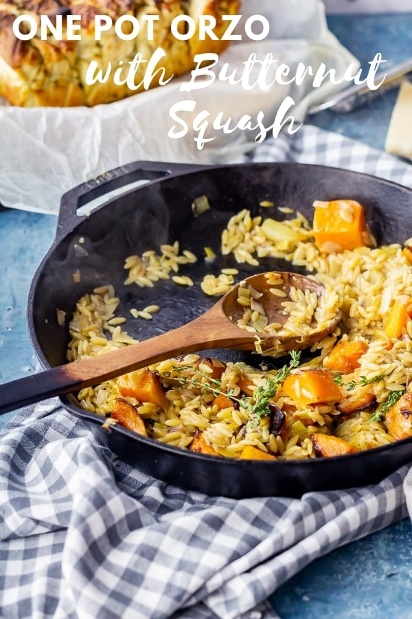 One pot orzo pinterest orzo with text overlay