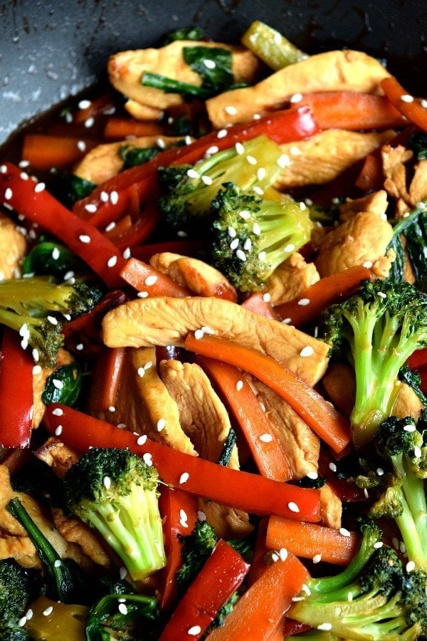 20 Minute Dinners: 20 minute chicken stir fry from the shmidty wife