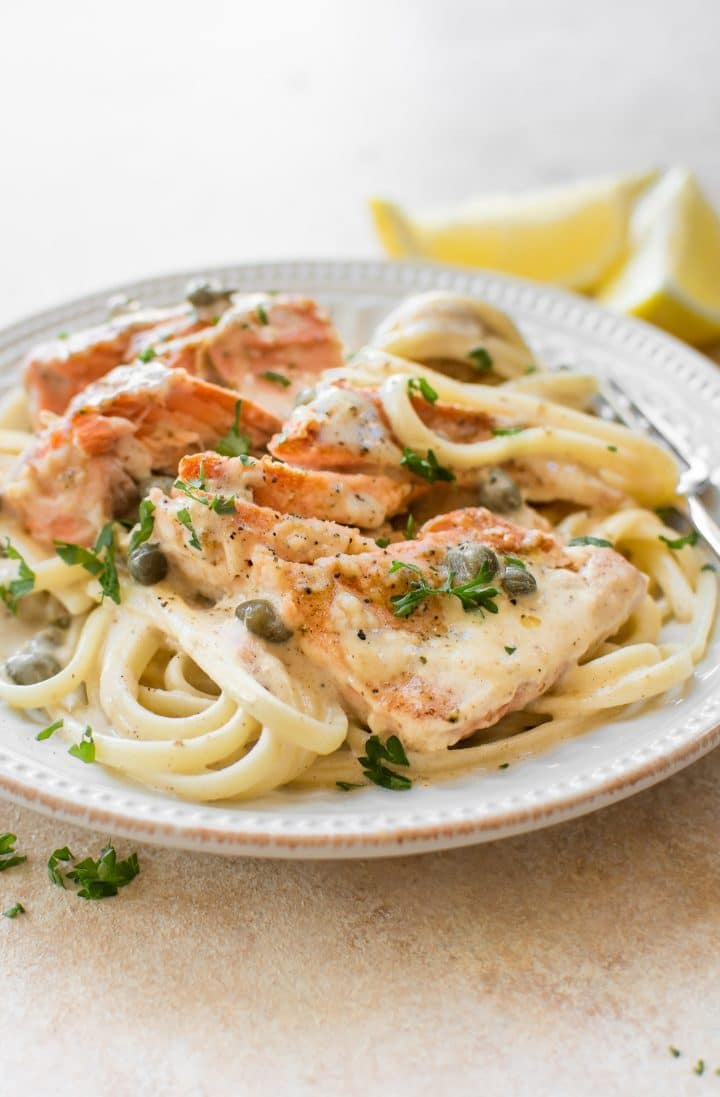 20 Minute Dinners: Salmon piccata recipe from Salt and Lavender
