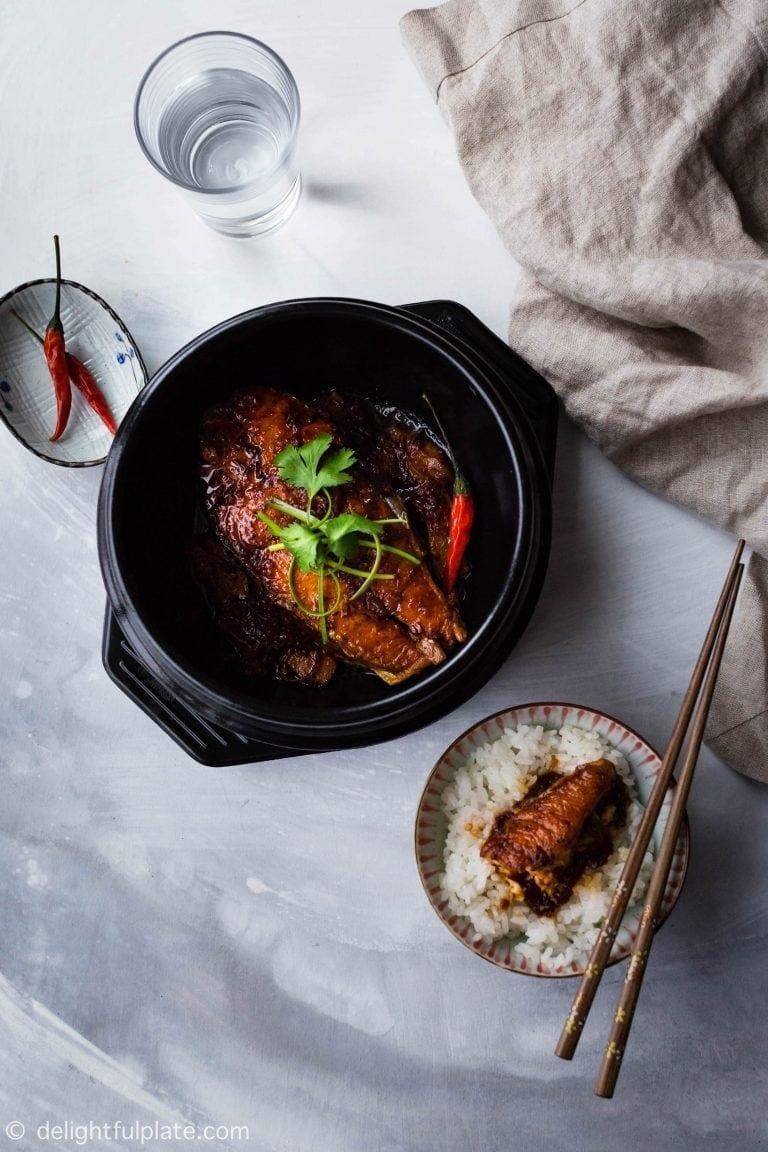 Vietnamese style carmelised salmon