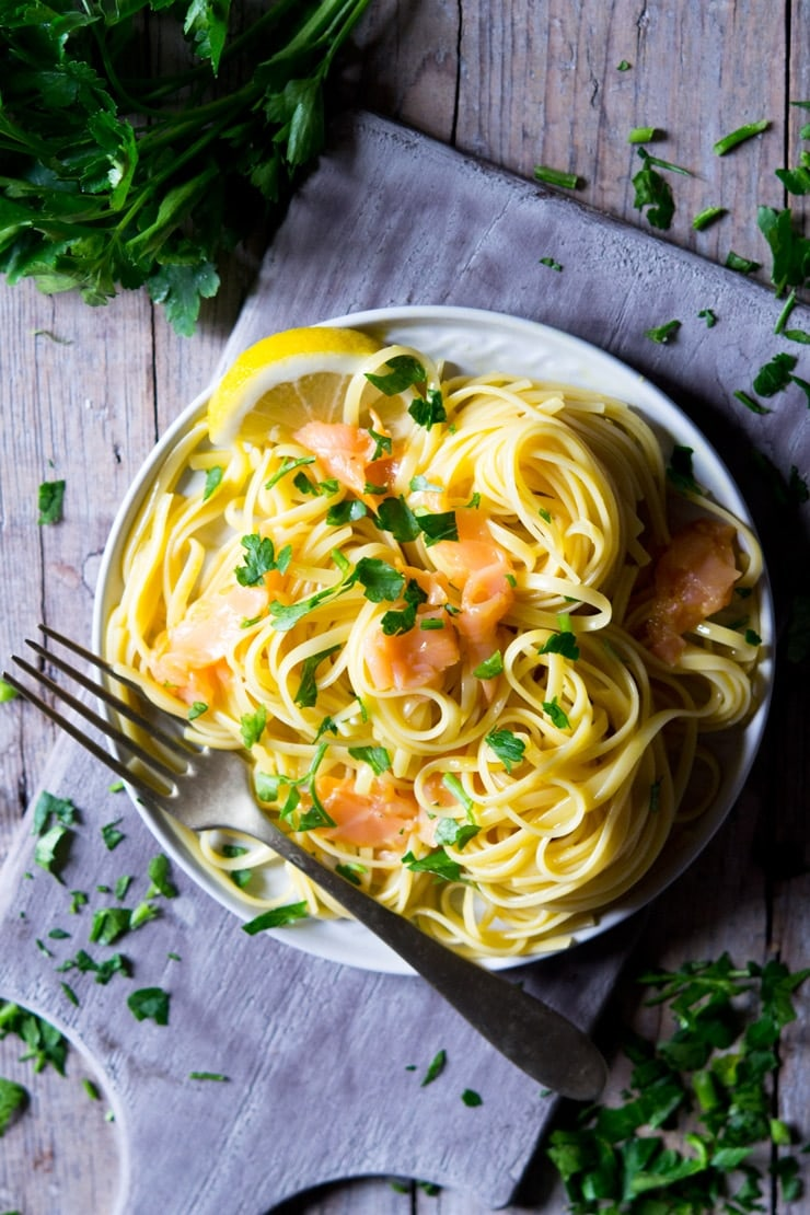 Smoked Salmon Pasta Carbonara