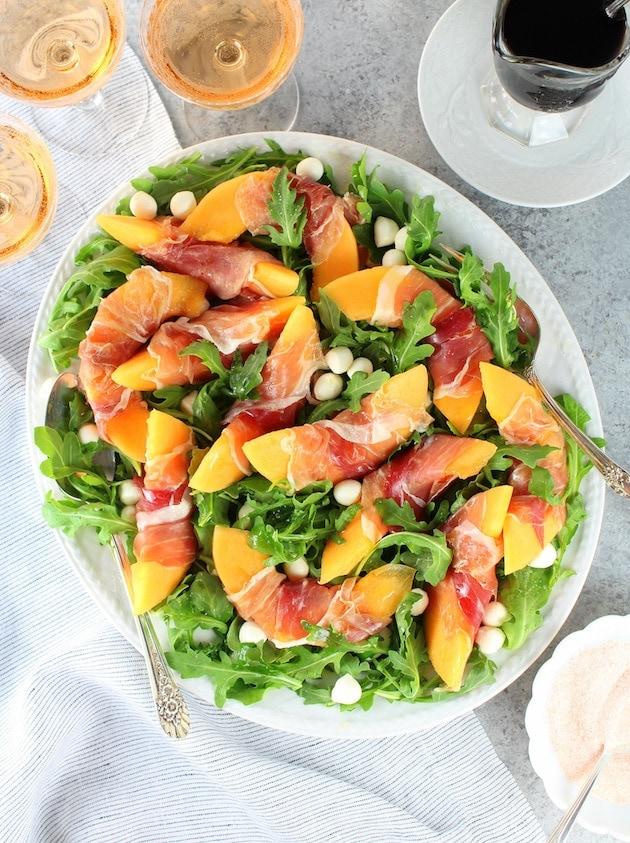 Melon Mozzarella Prosciutto Salad