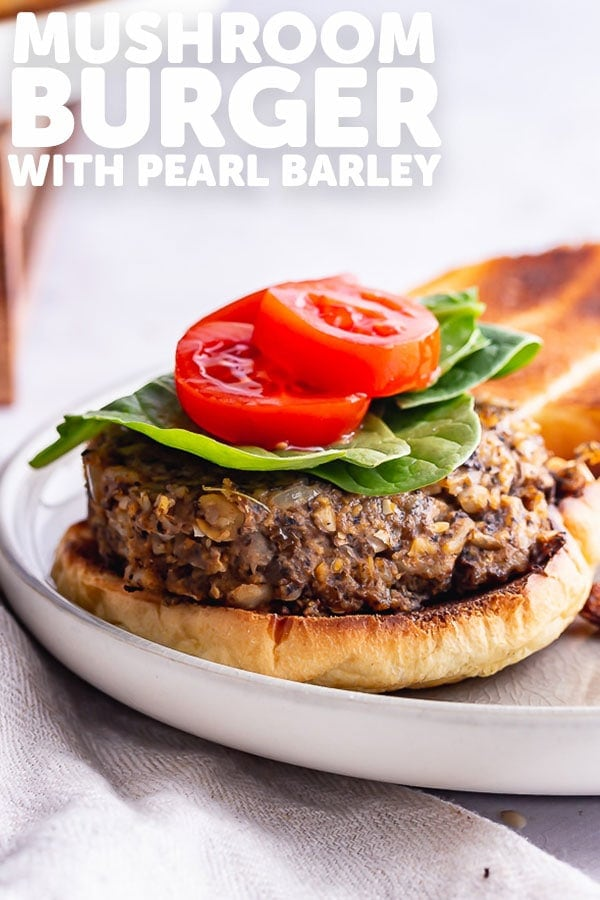 Pinterest image for mushroom burger