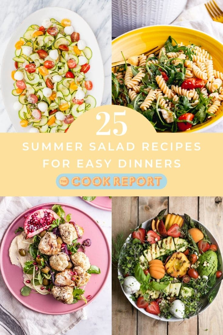 Pinterest graphic for summer salad recipes